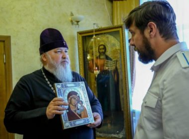 Митрополит Кирилл встретился с атаманом Ставропольского окружного казачьего общества