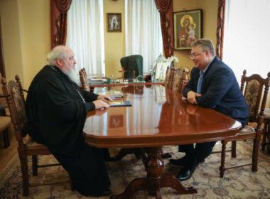 Митрополит Кирилл встретился с губернатором Ставропольского края Владимиром Владимировым
