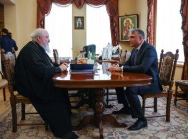 Митрополит Кирилл встретился с полномочным представителем Президента в СКФО Александром Матовниковым