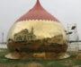 Продолжаются работы по изготовлению центрального купола храма в селе Московском