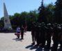 Священник обратился с напутственным словом к солдатам, присягнувшим на верность Отечеству