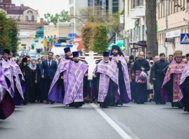 Накануне праздника Воздвижения Креста Господня в Ставрополе прошел крестный ход
