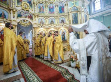 В Неделю 21-ю по Пятидесятнице митрополит Кирилл возглавил Литургию в Андреевском соборе