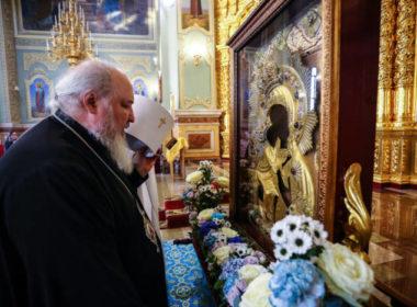 В Неделю 22-ю по Пятидесятнице митрополит Кирилл помолился за Литургией в Казанском соборе