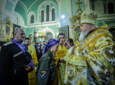 В канун Недели 21-й по Пятидесятнице правящий архиерей совершил всенощное бдение в Андреевском соборе