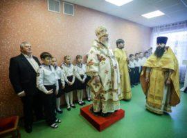 Митрополит Кирилл совершил Литургию в домовом храме Свято-Никольской начальной школы г. Михайловска
