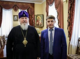 Митрополит Кирилл встретился с новым ректоромСеверо-Кавказского федерального университета