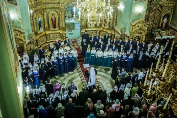 В Казанском кафедральном соборе Ставрополя прошел Рождественский хоровой собор