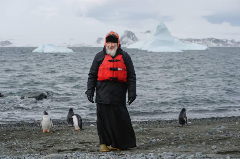 Патриарх Кирилл в Антарктиде