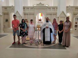 Священник епархии отслужил молебен перед началом государственных экзаменов