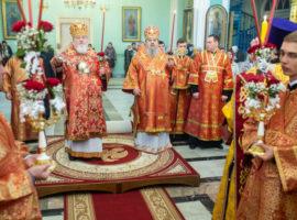 В канун дня памяти святителя Игнатия Брянчанинова в Андреевском соборе совершено всенощное бдение