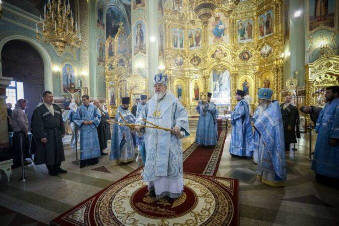 В праздник Рождества Пресвятой Богородицы митрополит Кирилл возглавил Божественную литургию в Казанском соборе г. Ставрополя